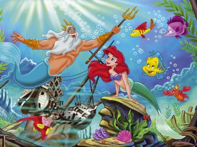 картинки из мультфильма русалочка дисней