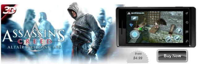 Assassin's Creed - Altaïr's Chronicles для LG P920 Optimus 3D