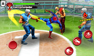 Spider-Man: Total Mayhem для LG P920 Optimus 3D в формате стерео 3D