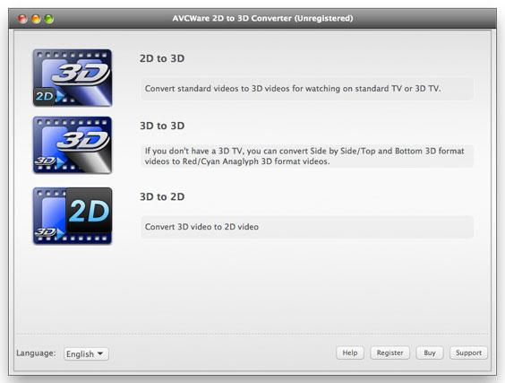 AVCWare 2D to 3D Converter