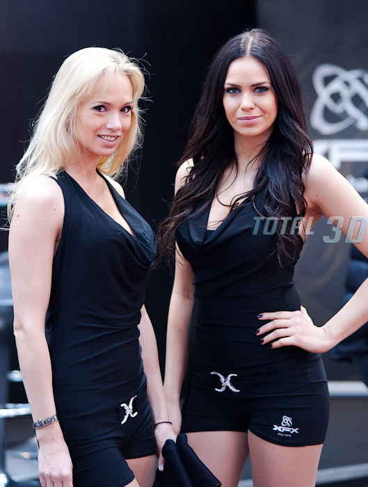 Booth Babes со стенда XFX, CeBIT 2012