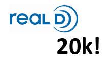 Количество кинозалов с технологией RealD превысило отметку в 20 тыс.