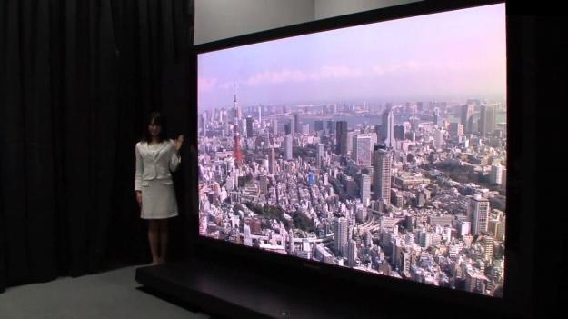 Panasonic анонсировала 145-дюймовый телевизор Super Hi-Vision 8K LCD