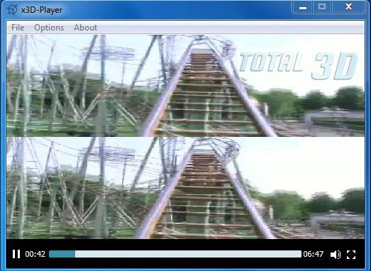 x3D-Player 1.3: бесплатное 3D-видео дома