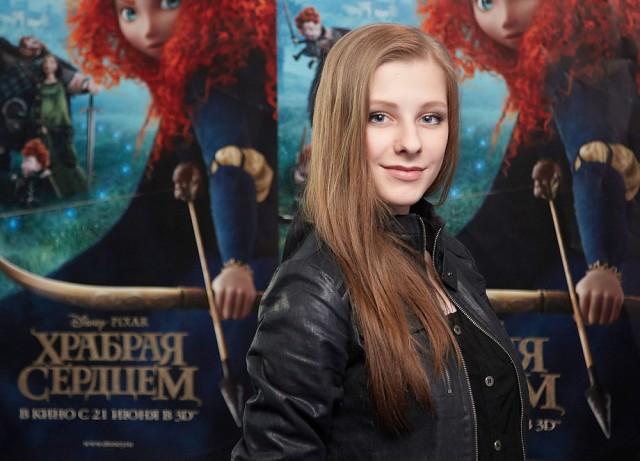 Лиза Арзамасова озвучила 3D-мультик «Храбрая сердцем»