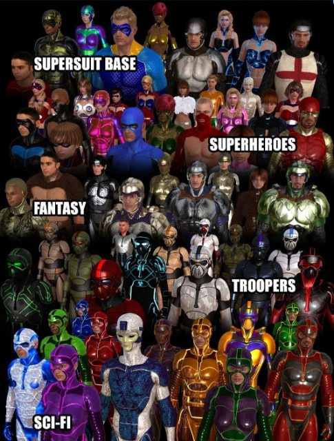 Genesis Supersuit для DAZ Studio
