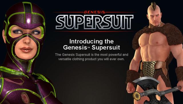 Digital Art Zone (DAZ) выпустила Genesis Supersuit