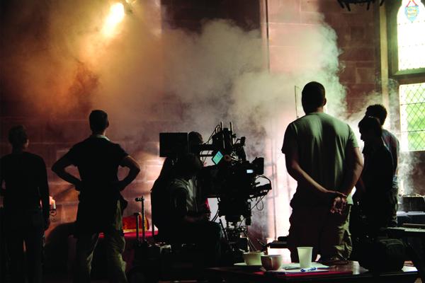 Съемки 3D-триллера «Святой Дракула 3D» в замке Пекфортон