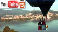YouTube стерео 3D: вид на Люцерн с воздушного шара