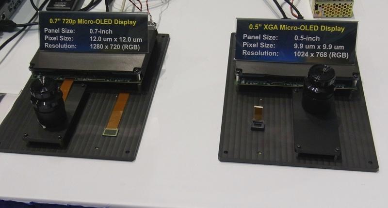 OLED-панели для электронных видоискателей и надеваемых дисплеев