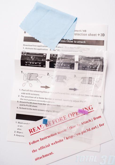 Обзор 3D-пленки для iPhone 4/4s Pic3D. Комплект поставки