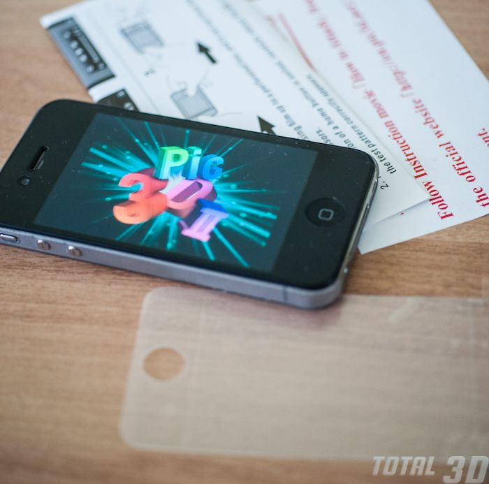 Обзор 3D-пленки для iPhone 4/4s Pic3D. Установка и настройка