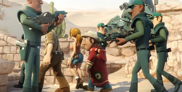 Студия Lightbox Entertainment занималась производством 3D-мультика «Тэд Джонс и Затерянный город»