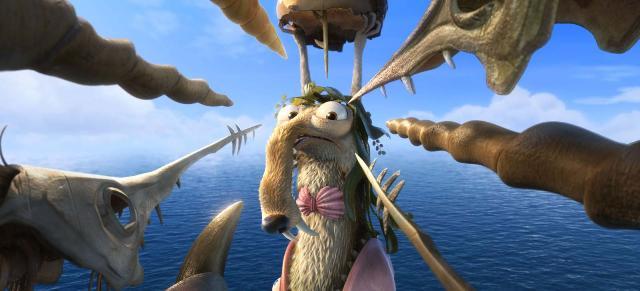 Крысобелка Скрат (Scrat) из фильма «Ледниковый период 4: Континентальный дрейф» (Ice Age: Continental Drift) в 3D