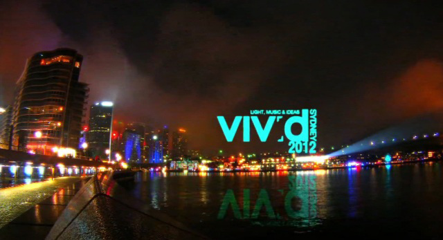 YouTube 3D-видеоролики с фестиваля Vivid Sydney Festival в Сиднее