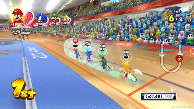 Обзор игр для Nintendo 3DS: Mario & Sonic at the London 2012 Olympic Games Велотрек