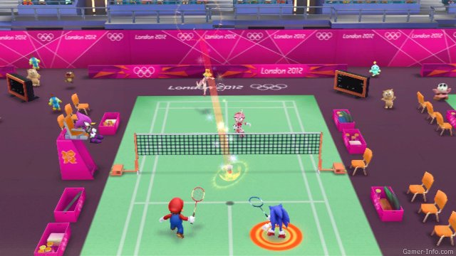 Обзор игр для Nintendo 3DS: Mario & Sonic at the London 2012 Olympic GamesТеннис