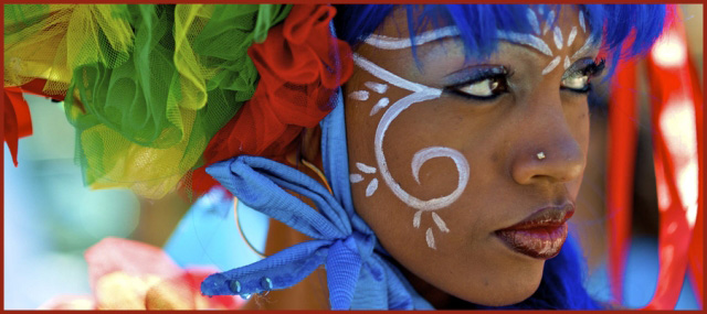 Парижский тропический карнавал в (Carnaval Tropical de Paris) в стерео 3D
