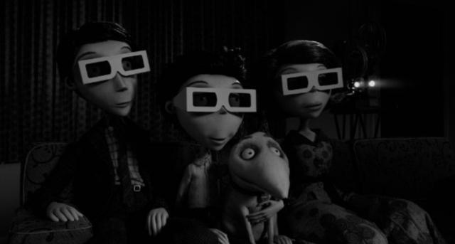 Кадры из 3D-анимации «Франкенвини» (Frankenweenie)