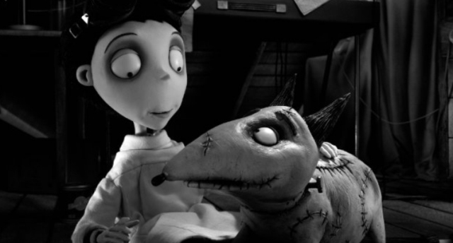 Кадры из 3D-мультфильма «Франкенвини» (Frankenweenie)