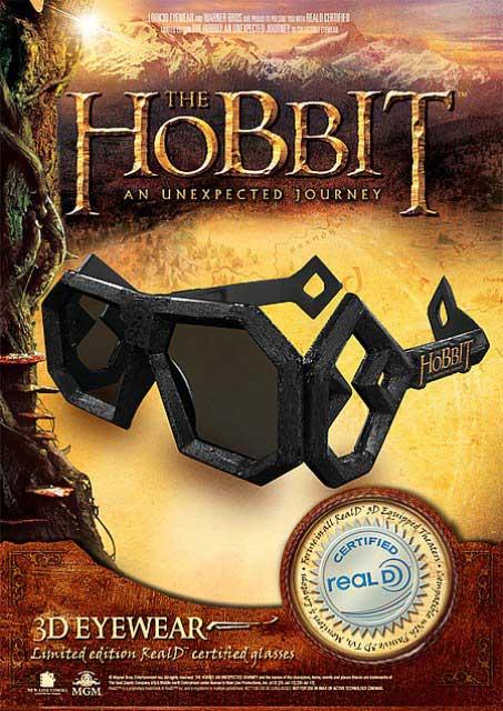 3D-очки к премьере 3D-ленты «Хоббит: Нежданное путешествие»
