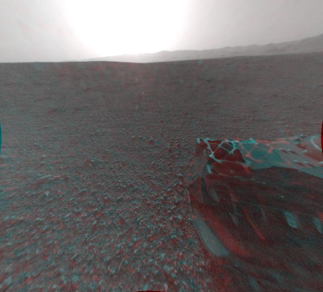 Первые 3D-фото поверхности Марса: марсоход Curiosity