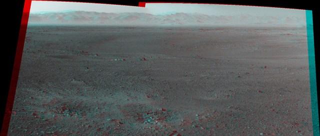 Первая 3D-панорама поверхности Марса: марсоход Curiosity