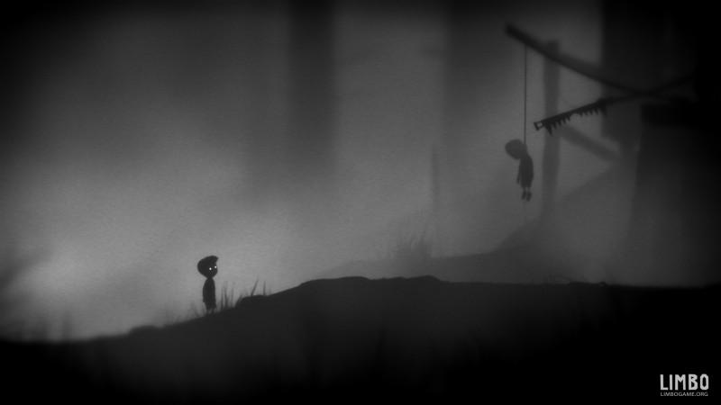 Черно-белая игра Limbo с поддержкой стерео 3D в анаглифном формате