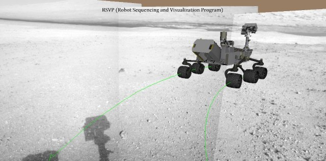 3D-симулятор Robot Sequencing and Visualization Program (RSVP) для управления Curiosity