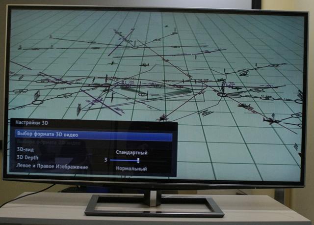 Настройки 3D, 3D-телевизор TOSHIBA 55ZL2R