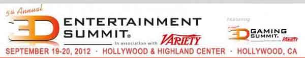 3D Entertainment Summit 2012 пройдет в конце сентября