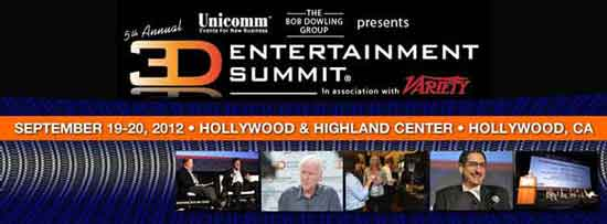 19-20 сентября в Лос-Анджелесе пройдет 3D Entertainment Summit