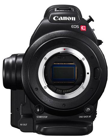 Canon EOS C100: вид спереди