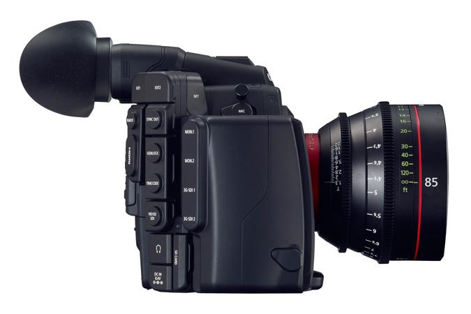 Canon EOS C500: вид сбоку