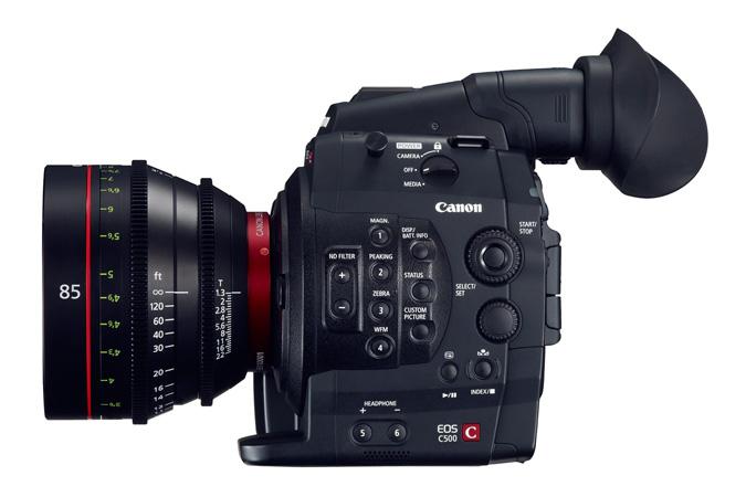 Canon EOS C500 с объективом