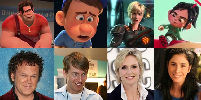 Джон Си Райли, Джек МакБрайер, Джейн Линч и Сара Сильверман озвучили персонажей 3D-фильма «Ральф-Разрушитель»