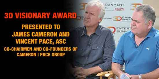 Награда 3D Visionary Award в этом году будет вручена Джэймсу Камерону и Винсенту Пэйсу