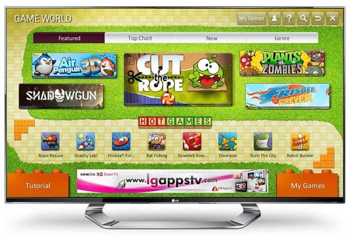 Игровой портал Game World для Smart-ТВ LG Cinema 3D