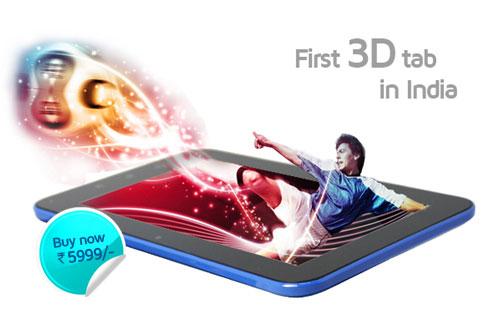 3D LIFE: первый 3D-планшет в Индии