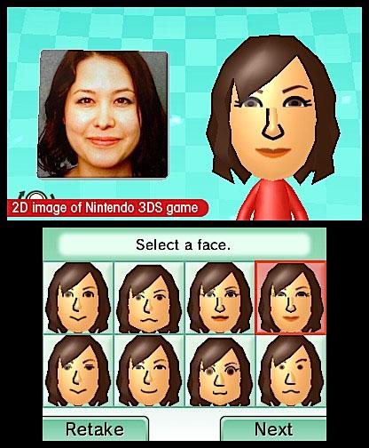 Nintendo 3DS в помощь покупателю Создаем собственное лицо в Mii