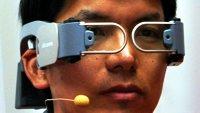 Наголовный смартфон NTT Docomo с очками дополненной реальности