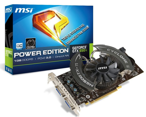 MSI NVIDIA GeForce GTX 650 Ti