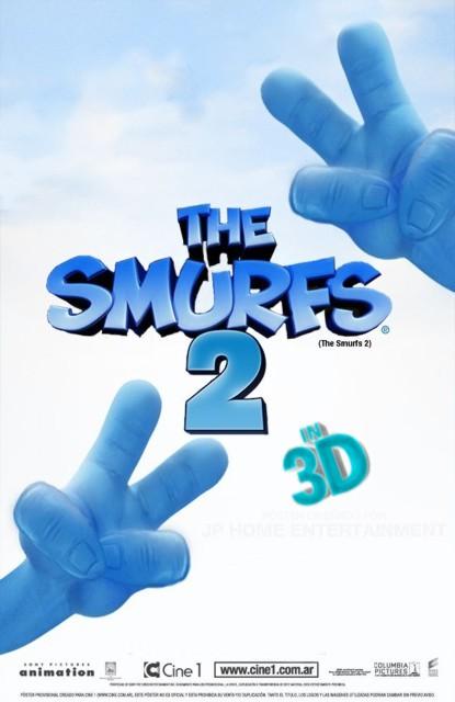 Стерео 3D-мультфильмы 2013 года: «Смурфики 2» (The Smurfs 2).