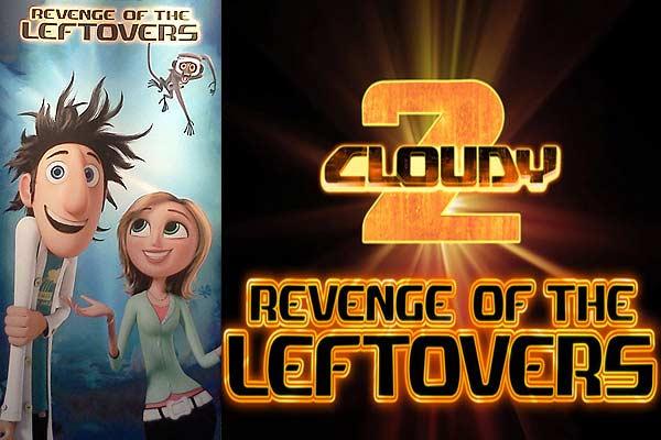 Стерео 3D-мультфильмы 2013 года: «Облачно, возможны осадки: Месть фастфуда» (Cloudy 2: Revenge of the Leftovers)