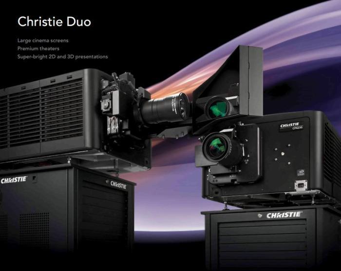 Система, состоящая из двух флагманских проекторов Christie Solaria CP2230
