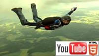 «Прыжки с парашютом»: экстремальное YouTube 3D-видео