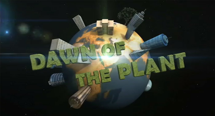 YouTube стерео 3D-мульт Dawn of the Plant