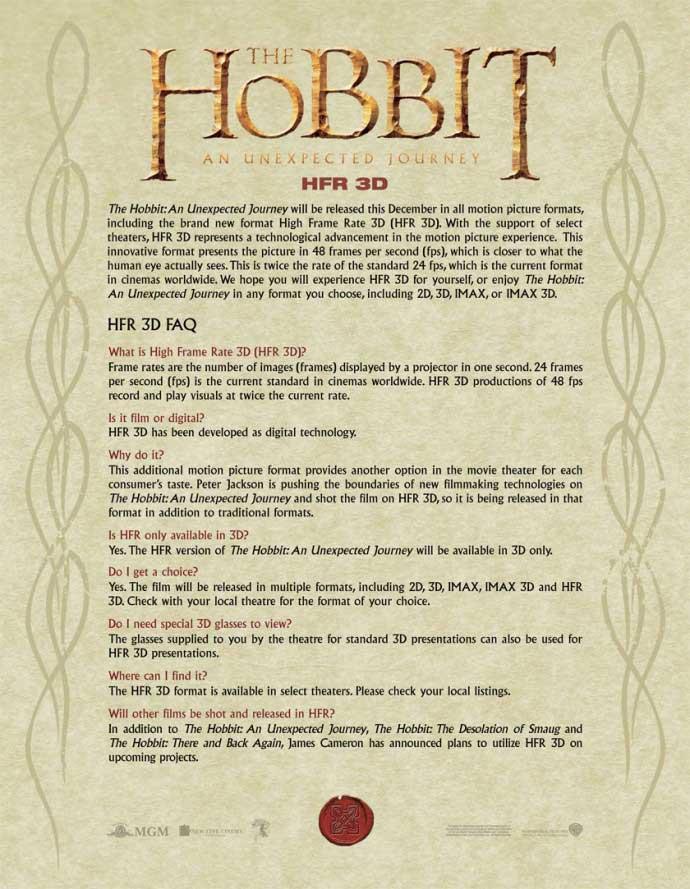 «Хоббит: Нежданное путешествие»: почему формат HFR 3D?