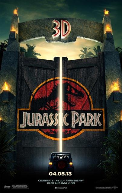 3D-лента «Парк Юрского периода 3D» (Jurassic Park 3D): новый постер