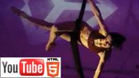 Марина Луна: воздушная гимнастика на YouTube в стерео 3D